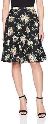 Star Vixen Women's Petite Full Knee Length Skater Skirt