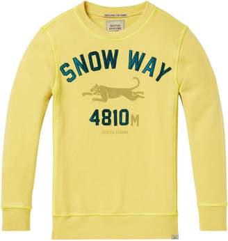 Scotch & Soda Garment Dyed Artwork Sweatshirt