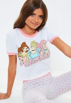 Missguided Pink FPrincess Legging Pyjama Set