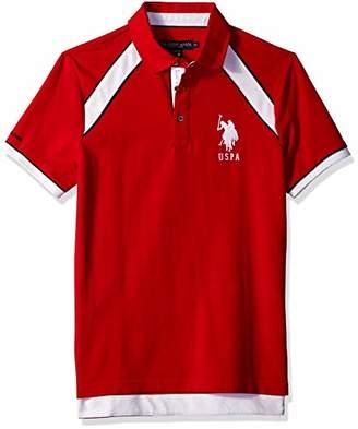 U.S. Polo Assn. Men's Short Sleeve Slim Fit Solid Pique Polo Shirt