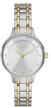 Skagen Analog Anita Two-Tone Stainless Steel Link Bracelet Watch