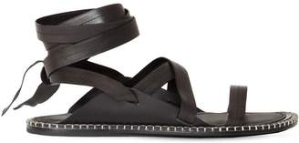 Ann Demeulemeester Leather Strap Sandals