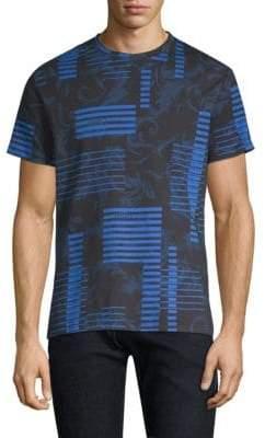 Versace Cotton-Blend Logo Print T-Shirt