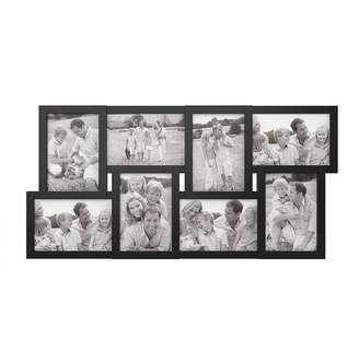 Trademark Global Collage Picture Frame with 8 Openings for 4x6 Photos by Lavish Home, Black