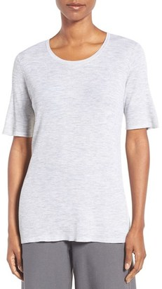 Women's Eileen Fisher Featherweight Ribbed Merino Shell $218 thestylecure.com