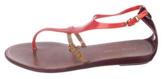 Sergio Rossi Jelly Thong Sandals