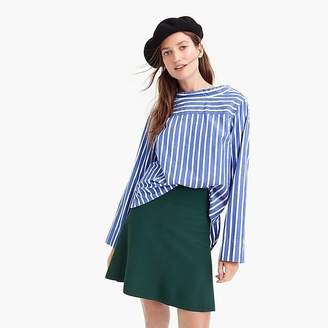 Sweater flare mini skirt