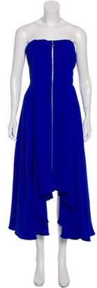 Christian Dior Strapless Silk Dress