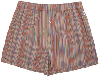 Paul Smith Multicolor Classic Multistripe Boxers $65 thestylecure.com