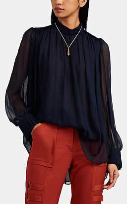 MANNING CARTELL Women's Feather Weight Silk Blouse - Navy