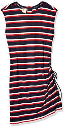 Tommy Hilfiger Women's Adaptive Striped Dress with Magnetic Closure at Neck