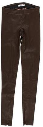 Vince Mid-Rise Skinny Leather Pants w/ Tags