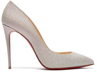 Christian Louboutin Pigalle Follies 100 Glitter Embellished Pumps - Womens - Silver
