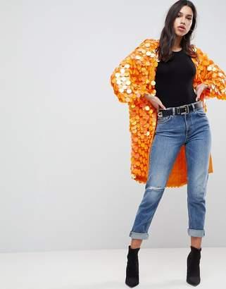 Asos Bright Sequin Kimono