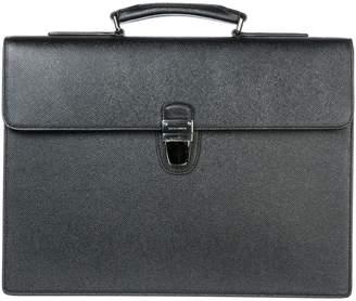 Dolce & Gabbana Briefcase Attache Case Laptop Pc Bag Leather