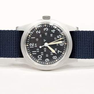 Blade + Blue Vintage 1979 Hamilton Field Watch with Blue Band