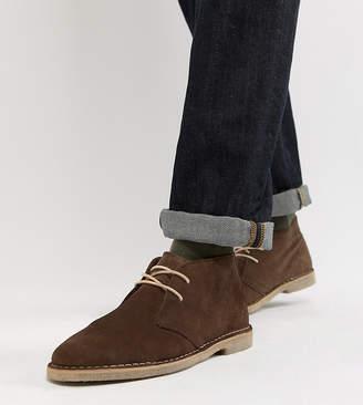 Asos Design DESIGN Wide Fit desert boots in brown suede