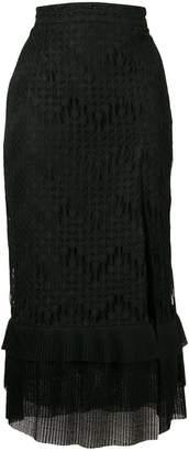 Just Cavalli layered midi skirt