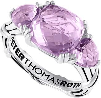Peter Thomas Roth Sterling Lavender Amethyst 3-Stone Ring