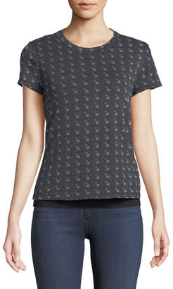 Allen Allen Short-Sleeve Burnout Tee w/ Cami