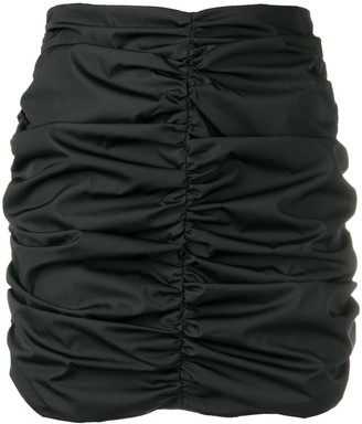 ATTICO ruched mini skirt