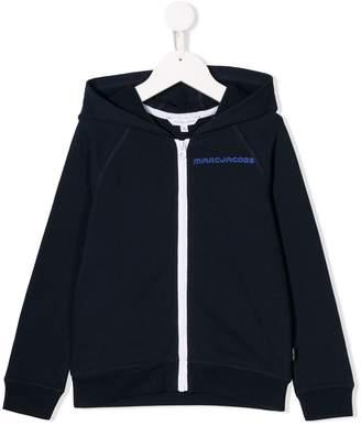 Little Marc Jacobs zip-up logo hoodie
