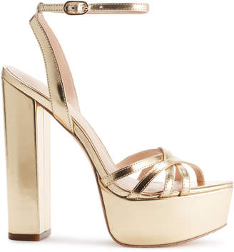 Rachel Zoe Charlotte Metallic Leather Platform Sandals