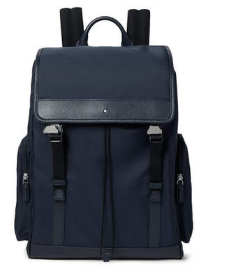 Montblanc Sartorial Jet Cross-Grain Leather-Trimmed Nylon Backpack