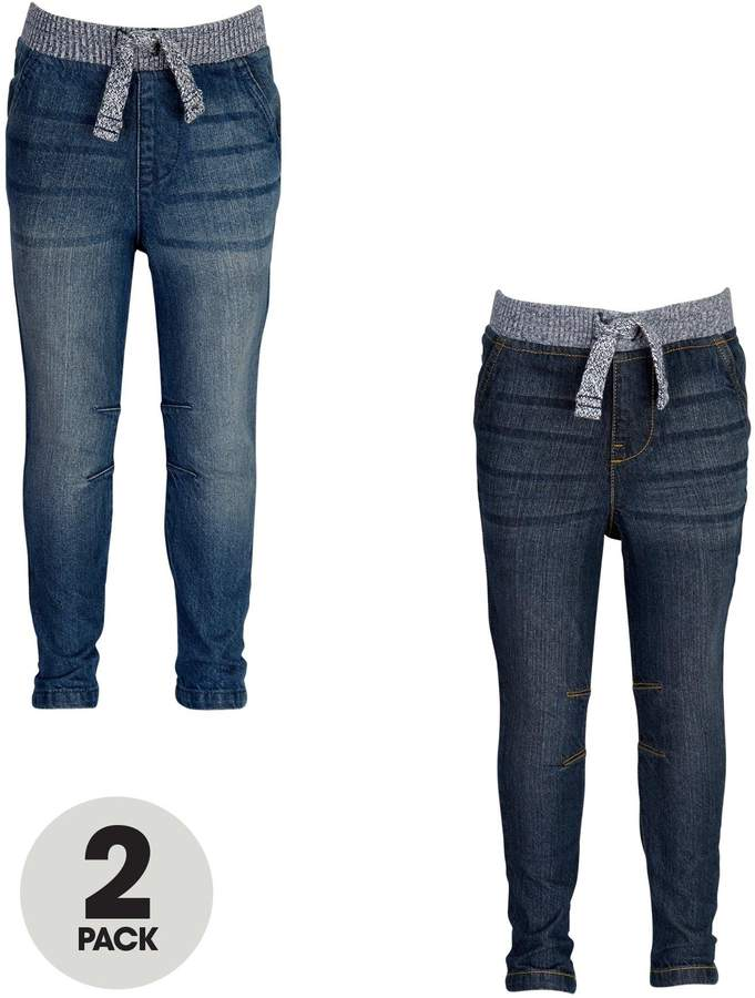 Mini V by Very Toddler Boys Ribbed Waist Jeans (2 Pack)