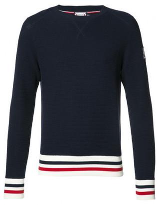 Moncler Gamme Bleu Blue Crew-neck Sweater $670 thestylecure.com
