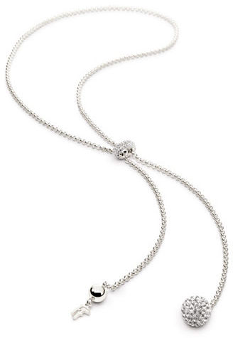 Folli Follie Bling Chic Sterling Silverplate and Crystal Pendant Necklace