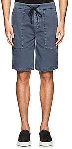 James Perse MEN'S COTTON DRAWSTRING SHORTS-BLUE SIZE 0