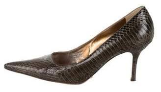Dolce & Gabbana Snakeskin Pointed-Toe Pumps