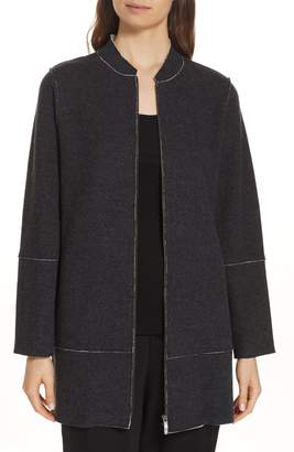Eileen Fisher Long Bomber Jacket