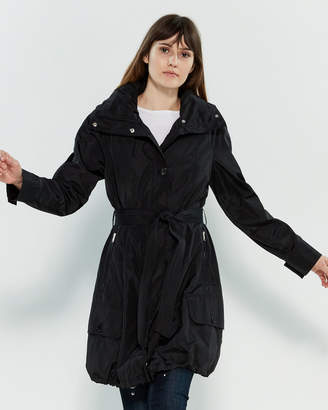 Andrew Marc Hooded Trench Raincoat