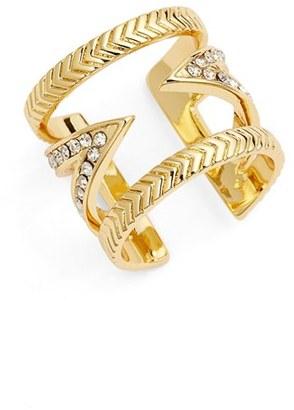 Women's Ettika Crystal V Ring $36 thestylecure.com