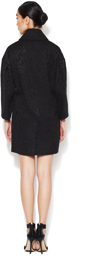 Dolce & Gabbana Jacquard Double Breasted Coat