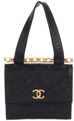 Chanel Vintage Lambskin Quilted Handle Bag