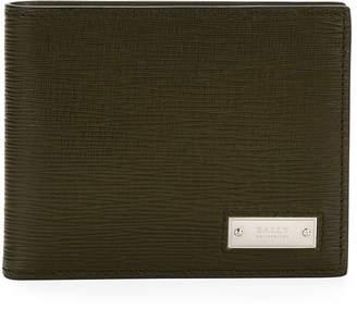 Bally Men's Bevye Embossed Leather Bi-Fold Wallet, Green