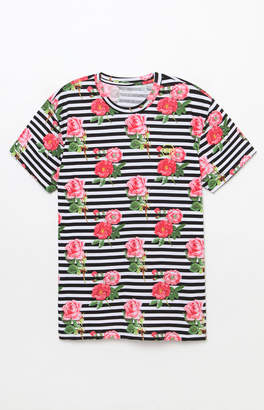 Young & Reckless Crimson Rouge Floral & Stripes T-Shirt