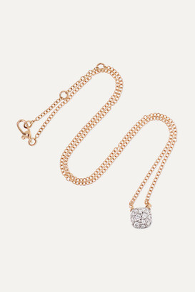Pomellato Nudo 18-karat Rose And White Gold Diamond Necklace - Rose gold