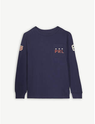Ralph Lauren Eagle print cotton long-sleeved T-shirt 5-7 years