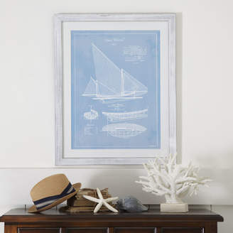 Birch Lane Sailboat Framed Blueprint I