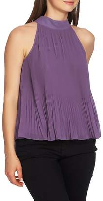 1 STATE 1.State Pleated Chiffon Halter Top