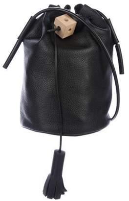 Building Block Leather Bucket Bag Black Leather Bucket Bag