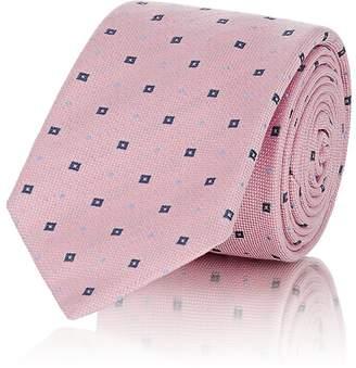 Barneys New York Men's Square-Dot Linen-Silk-Blend Necktie