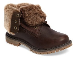 Women's Timberland Authentic Water Resistant Genuine Shearling Boot $179.95 thestylecure.com