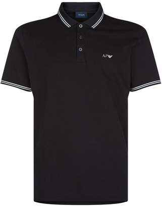 Armani Jeans Tipped Collar Polo Top
