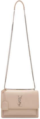Saint Laurent Pink Medium Sunset Chain Bag