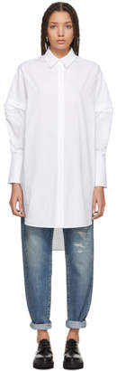 Alexander McQueen White Slashed Sleeve Shirt